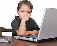 Дети в интернете, родительский контроль, ребенок за компьютером